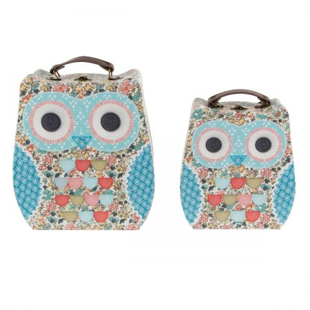 Floral Friends Clara The Owl Suitcases