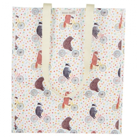 Sass & Belle Happy Animals On Bikes Tote Bag