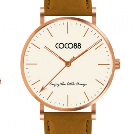 Coco88 Leather Tan Watch
