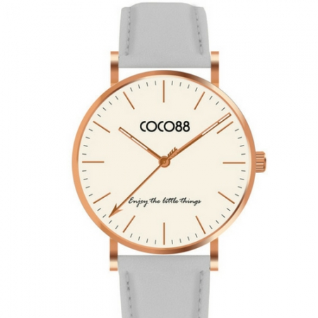 Coco88 Watch With Leather Strap