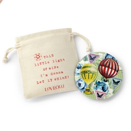 Loveolli Hot Air Balloon Handbag Mirror