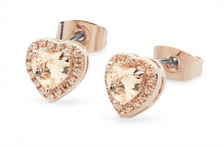 Tipperary Crystal Rose Heart Earrings