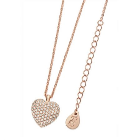Tipperary Crystal pave Heart Necklace