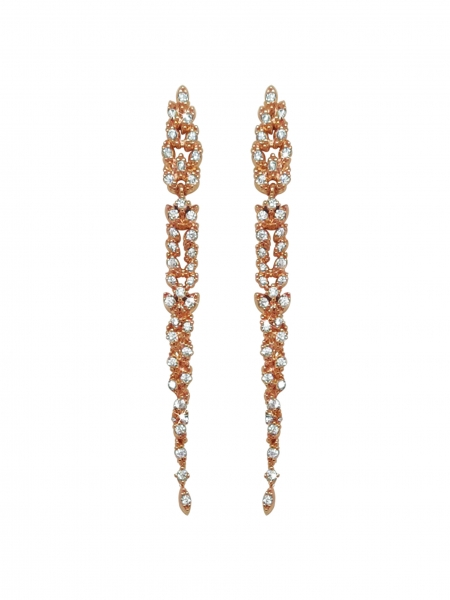 Tipperary Crystal Vintage Drop Rose Gold Earrings
