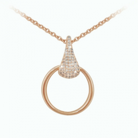 Tipperary Jewellery Rose Gold Pave Necklace