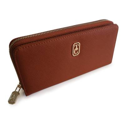 Tipperary Crystal Tan Gold Zip Wallet