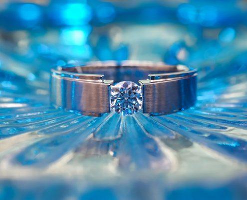 Bright blue ring