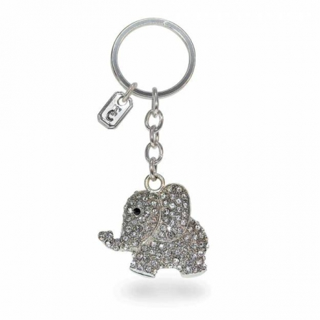 Tipperary Crystal Elephant Sparkle Keychain