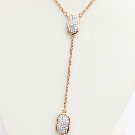 Shira Rose Gold Pave Necklace