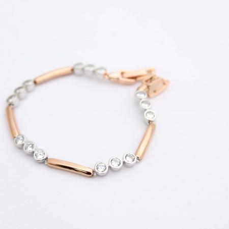 Shira Designer Rose Gold Crystal Set Bracelet