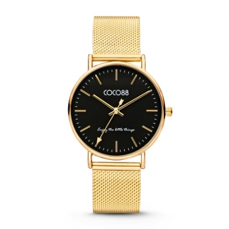 CoCo 88 Gold & Black Watch