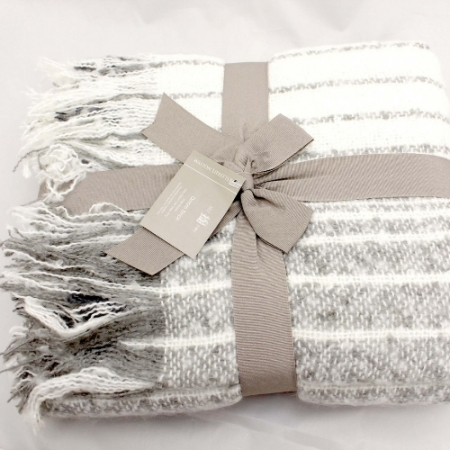 Striped Grey Throw From Walton Lifestyle