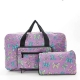 Eco Chic Foldable Holdall Lilac Butterflies