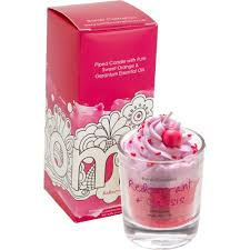 Bomb Cosmetic Redcurrant & Cassis Piped Glass Candle