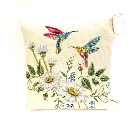 Hummingbird Jacquard Cushion