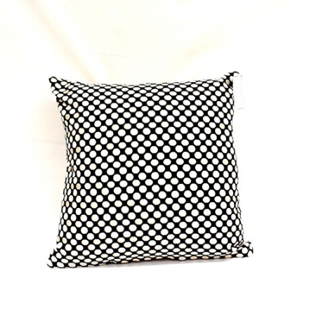 Jacquard Cushion With Black & Champagne Spots