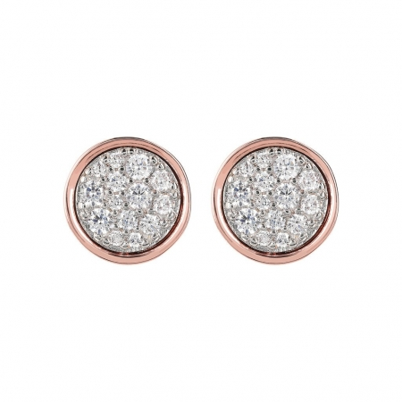 Bronzallure Cubic Ziconia Circle Stud Earrings
