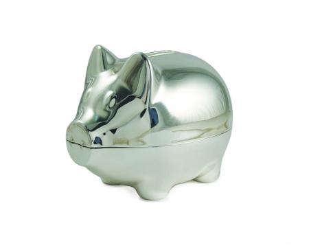 Tipperary Crystal Silver Piggy Bank Money Box