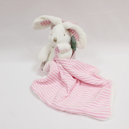 Pretty Perfect Bunny With Pink Stripe Comforter