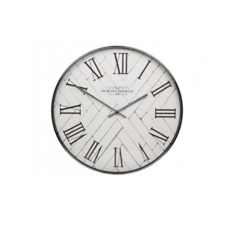 Dublin Clock Company Silver Clock
